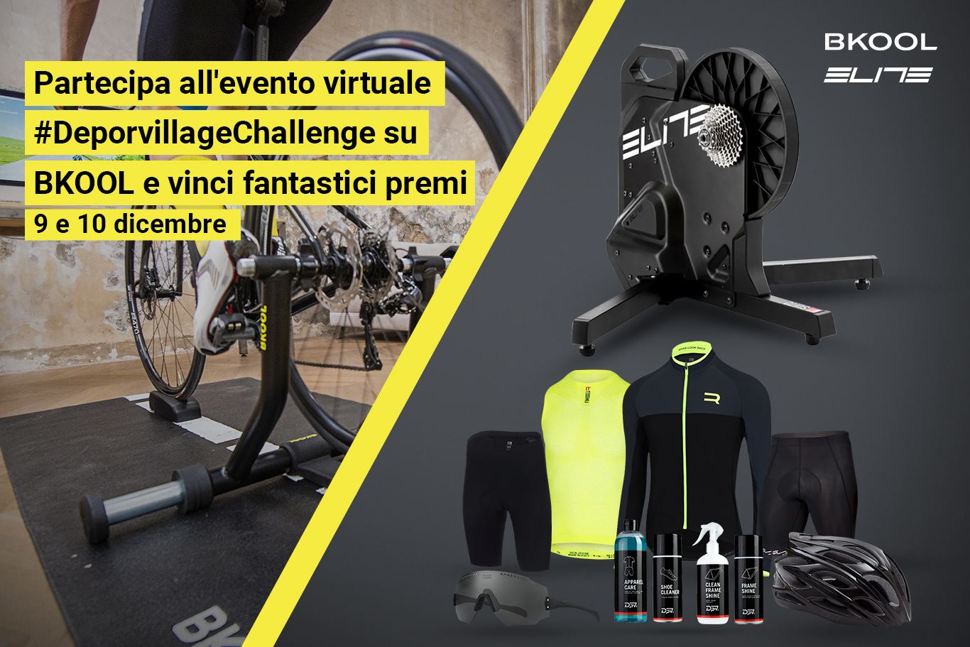 Evento virtuale #DeporvillageChallenge di BKOOL