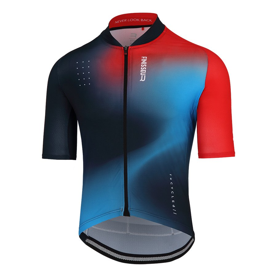 Maillot Finisseur Core Recycled Breeze azul rojo