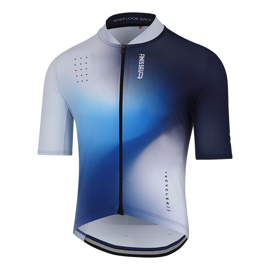 Maillot Finisseur Core Recycled Breeze blanco azul